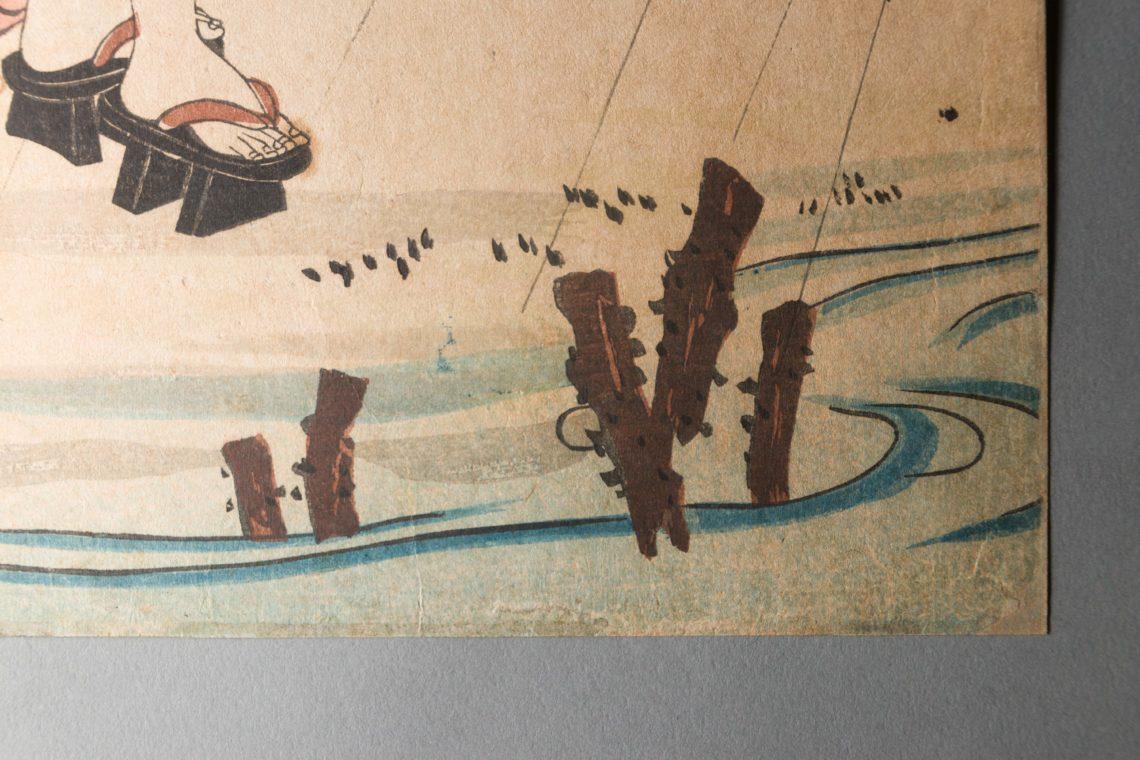 Japanischer Holzschnitt Restaurierung Reinigung