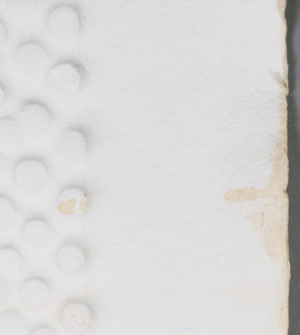 Prägedruck Restaurierung Flecken Bleiche