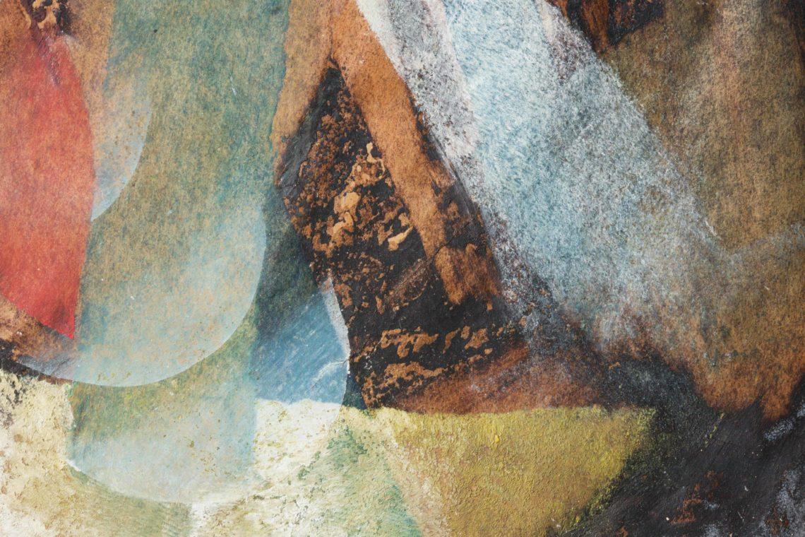 Restaurierung Riss Malerei auf Papier