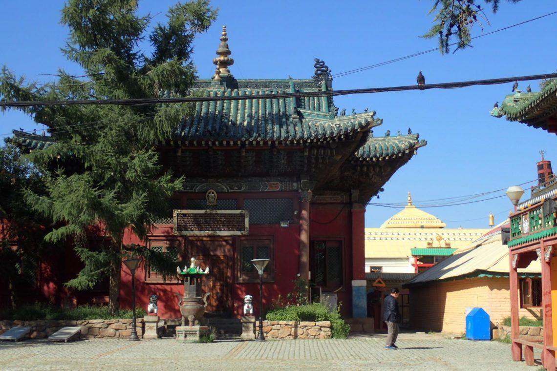 Mongolei Ulan Bator Gandan Kloster Tempel